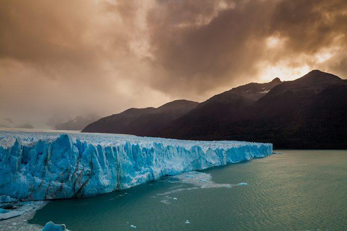 Glacier Perito Moreno National Park in autumn. Argentina, Patagonia.